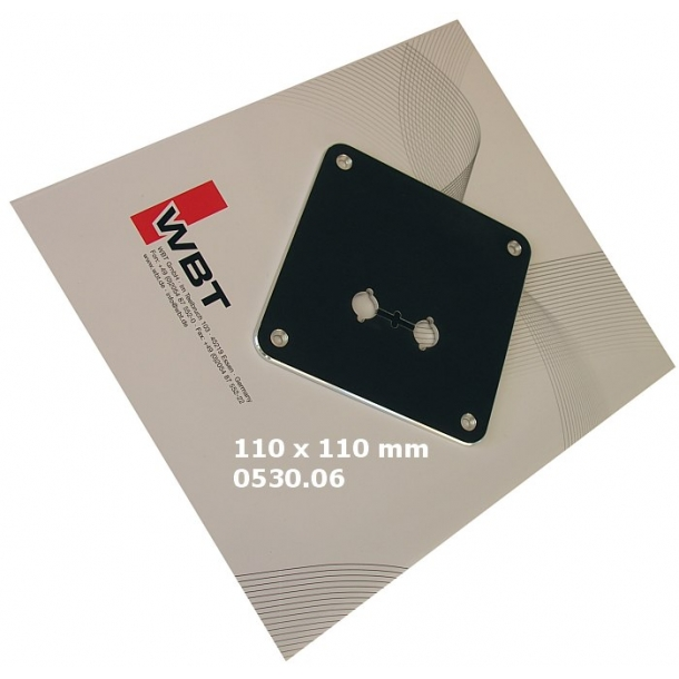 Mounting plate single wire black